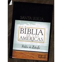 Biblia de estudio LBLA - Imitación piel negro
