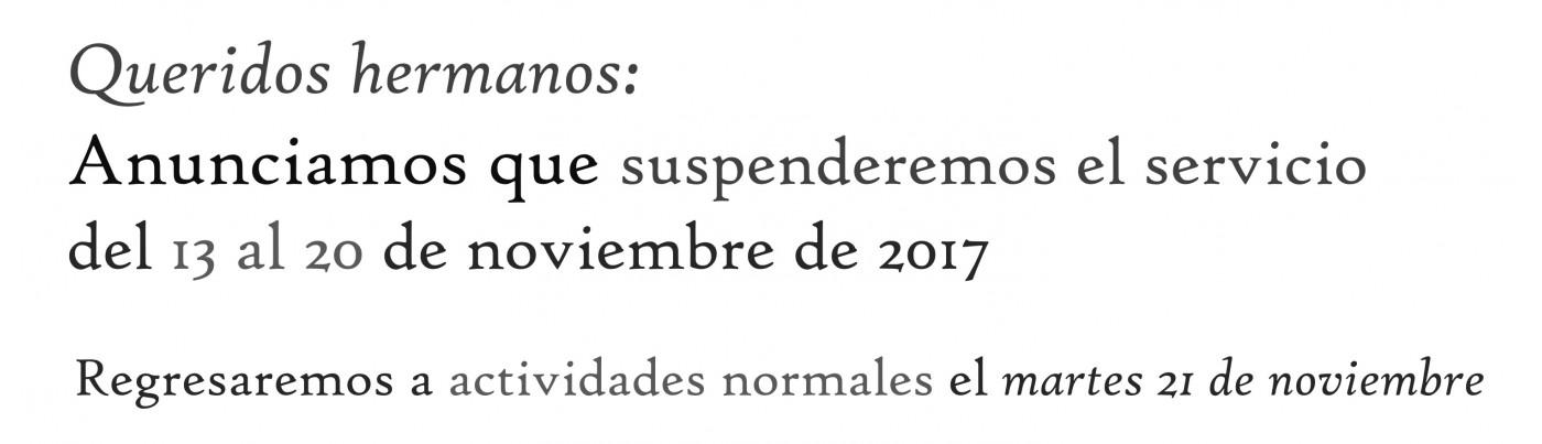 Aviso Noviembre 2017